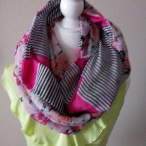 Old Navy Large Infinity Scarf Floral & Stripes